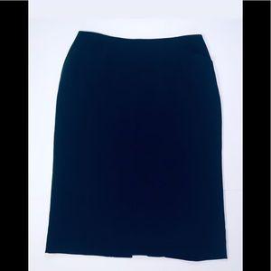 Vintage Sheer Navy Blue Pencil Skirt